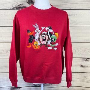 LOONEY TUNES Vtg. Embroidered Sweatshirt-Unisex S